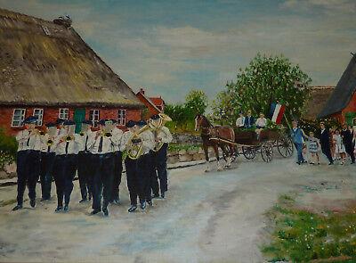 Schleswig-Holstein Gemälde Festumzug 200 Jahre Deutsche Kanzlei in Kopenhagen