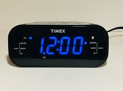 Timex T331 Bluetooth Dual Alarm Clock Radio w/Digital Tuning  Free Shipping