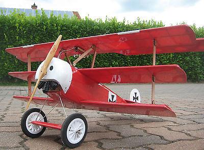 RC EP 1:8 Fast Fertig Fokker Dr.I Dr.1 Dreidecker Roter Baron WWI ARF