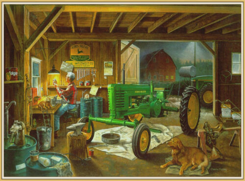 18X24 Poster of a John Deere Tractor and Farm   Equipment - Agriculture - Ranch