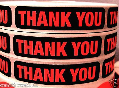 1000 Big Thank You Label Sticker 1 2  X 2 1 4
