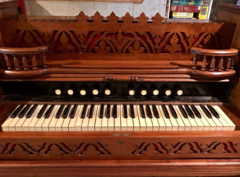 Antique C.P. Bowlby Princess Pump Organ