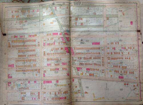 ORIG 1907 GRAVESEND KINGS HIGHWAY AV O-AV S & 9TH-18TH ST BROOKLYN NY ATLAS MAP