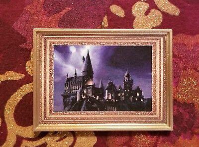 Beautiful Hogwarts Castle Portrait Handmade Christmas Tree Ornament Harry Potter