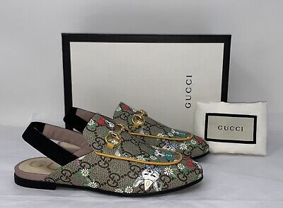 GUCCI Children's Princetown GG Pets Slipper Shoes NEW ❤️