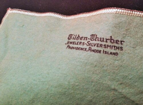 TILDEN-THURBER providence, rhode island antique jewelry bag sterling silver gold
