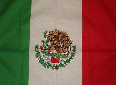 MEXICO FLAG BANDANA 21X21 100% COTTON DURAG BIKER DOORAG HANKERCHIEF RED GREEN - Bandana Green