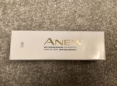 Avon -age transforming -anti aging--foundation -colour almond -discontinued