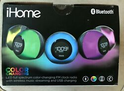 *NEW* iHome Color Changing FM Radio Alarm Clock (Bluetooth Compatible)
