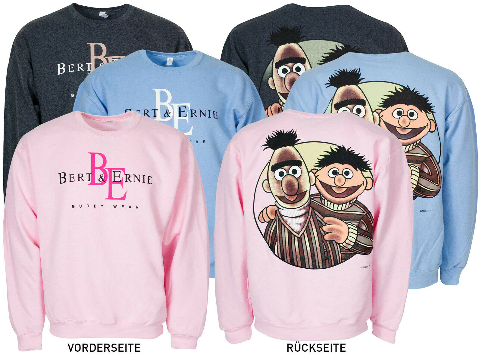Ernie & Bert Pullover Sweatshirt be Bert, be Ernie, just be ! buddy wear