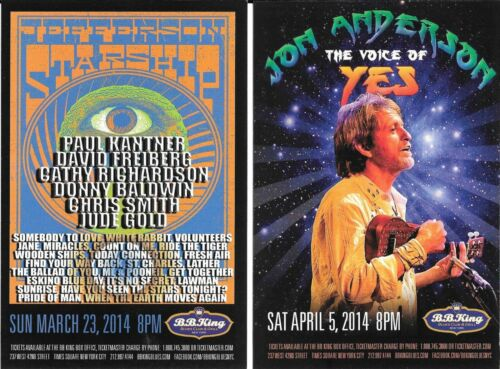 JEFFERSON STARSHIP Jon Anderson Voice Of YES Concert Handbill Mini-Poster  NYC