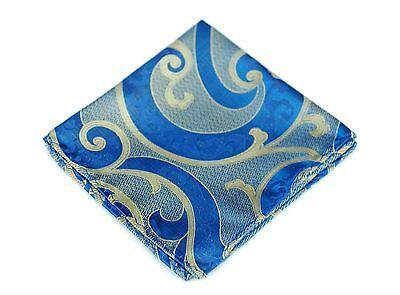 Lord R Colton Masterworks Pocket Square - Villarrica Blue Silk - $75 Retail New