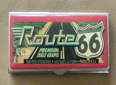Vintage Route 66 Classic Hardware Business Credit Card Case Money Holder