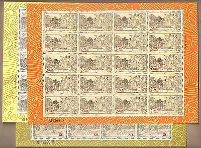 China 2001 1 27 340Th Anniversary Taiwan Recovery By Zheng Chenggong Full Sheet