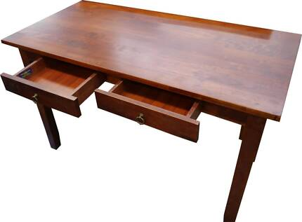 New Home Office Hardwood Timber Study Student Desks Drawers