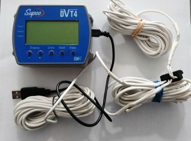 Supco DVT4 Temperature Recorder with probes and software