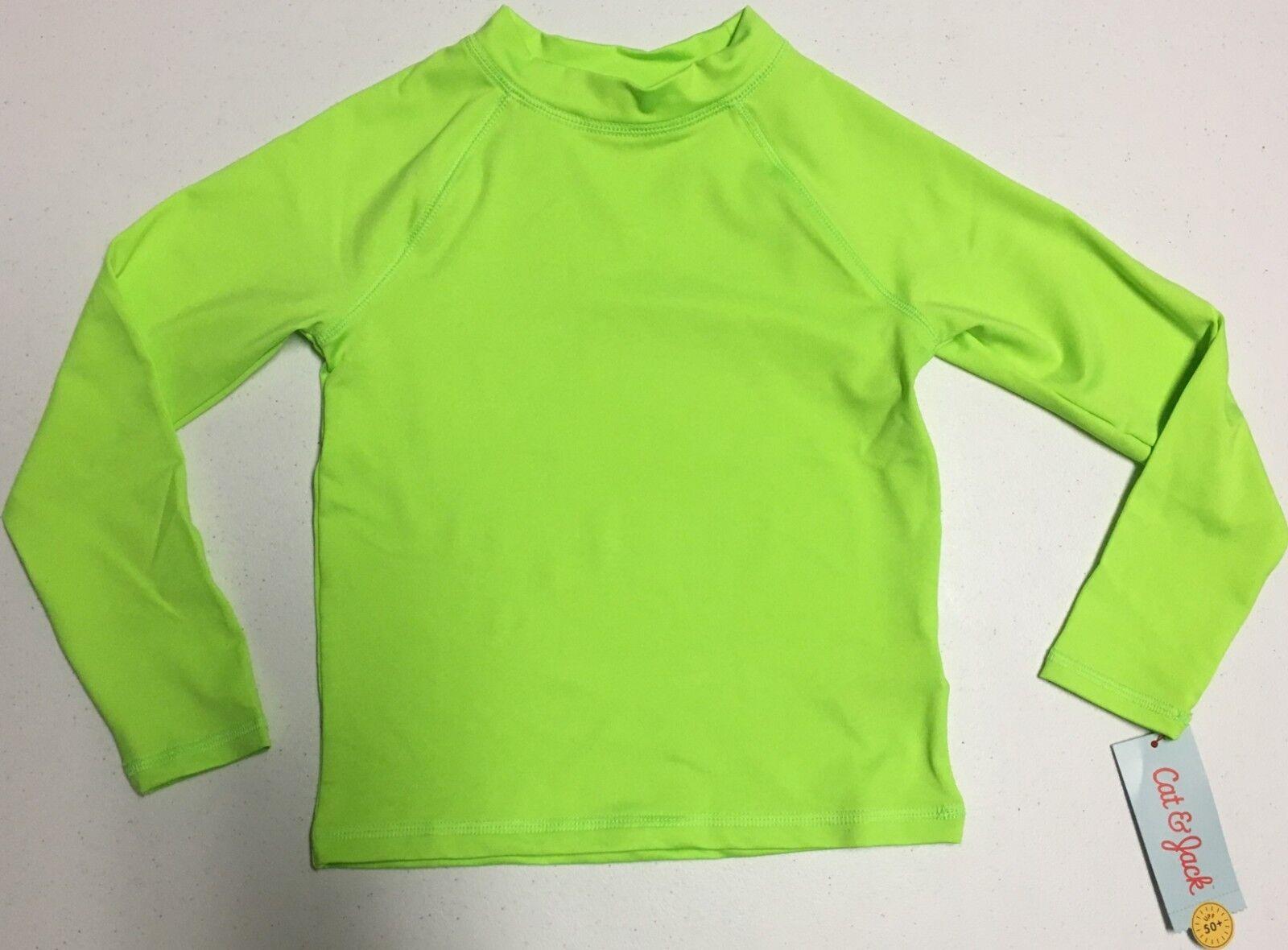 Kids Rash Guard, Neon Green, Long Sleeve, Size XS  *NEW* **F