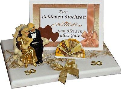 GESCHENK GELDGESCHENK zur GOLDENEN HOCHZEIT GOLDENE HOCHZEIT 50 KARTE