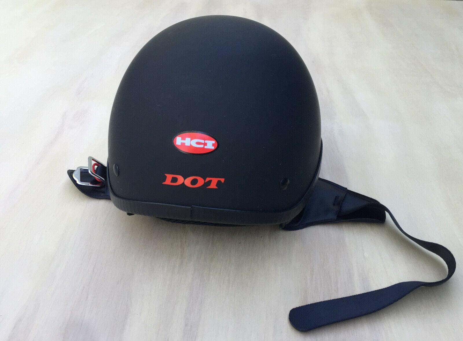 HCI Motorcycle Helmet Matte Black DOT Size L