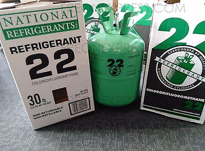 R-22  REFRIGERANT   30lbs. NEW IN BOX / SEALED  R22 30 lb - IMMEDIATE SHIPPING, used for sale  Southfield