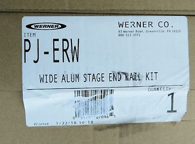 Werner Pj-erw Wide Aluminum Pump Jack Stage End Rail Kit For Scaffolding New