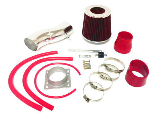 RED Air Intake system Kit / Filter set For 1995-1998 Nissan 200SX 1.6L L4