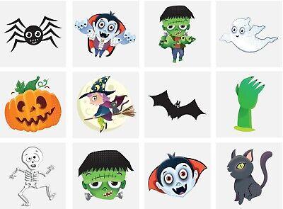 Bulk Halloween Temporary Tattoos (576 x Halloween Temporary Tattoos Kids Party Bag)