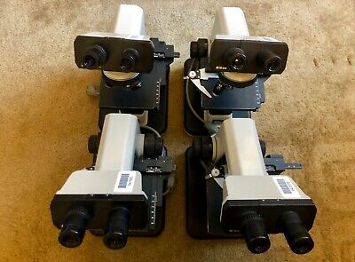 Nikon Alphaphot Ys2 Ys2-t Microscope With 3 Objectives Each Lot Of 4