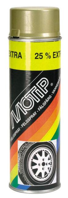 1 x Motip Felgenlack Gold Felgengold Spray 500ml 04008