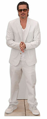 BRAD PITT LIFESIZE CARDBOARD CUTOUT STANDEE STANDUP Hollywood Star Suit Actor - Hollywood Star Cutouts