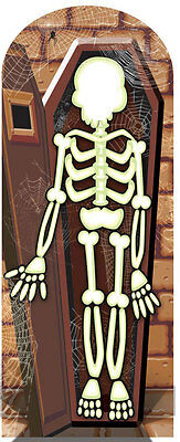 Skeleton Crypt Stand In Scary Cardboard Cutout Stand Up Great for Halloween