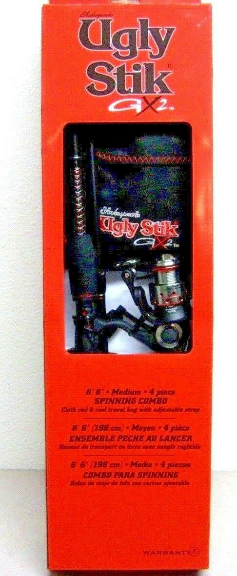 Shakespeare Ussptrvl664M/30Kit Ugly Stick Gx2 Travel Spinnin