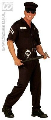 3-tlg. POLIZIST, Polizei, Uniform Kostüm,m.Hut Gr. M, L, XL - Polizist Uniform Kostüm