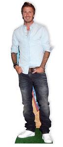 Beckham, David LIFESIZE CARDBOARD CUTOUT STANDEE STANDUP Football Celebrity icon