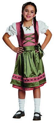 Kinder Kostüm Dirndl Clara Oktoberfest Mädchen Kostüm zu Fasching Karneval