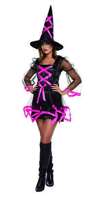Mottoland 1230621 - Hexe mit Hut - Wicca, Magierin, Damen Halloween Kostüm - Wicca Hexe Kostüm