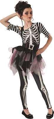 Skelee Ballerina Halloween Kostüm Skelett für Kinder Gothic Fasching 1261002713
