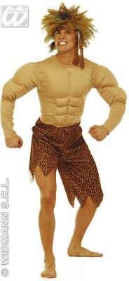 JUNGLE MAN ADULT COSTUME W/MUSCLES FANCY DRESS COSTUME (CULTURES) (Jungle Man Kostüm)