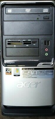 Acer Aspire T180 MT PC w/ AMD Athlon 64 3800+ 2.40GHz 1GB RAM 250GB HDD w/ COA