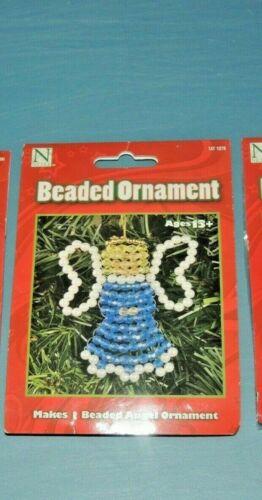 (NEW) Nicole Beaded Ornament ANGEL Christmas Ornament Craft Kit #1076 FREE SHIP