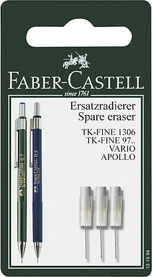 Faber-castell Spare Eraser Mechanical Pencil Tk-fine 3 X 131594