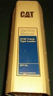 Cat Caterpillar 973c Track Loader Service Shop Repair Book Manual Sn Bcp1-up