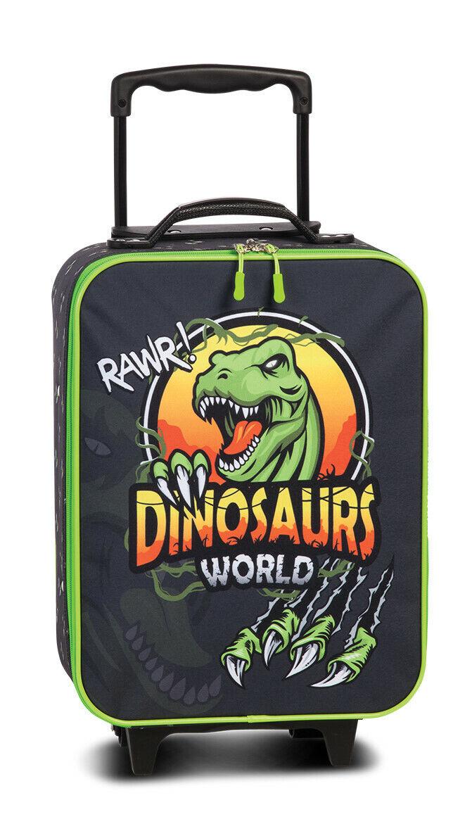 Fabrizio Dinosaurs World 2-Rad Kindertrolley Kinderkoffer Dino T-Rex