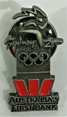 Westpac Australias First Bank Sydney 2000 Olympics Pin Collect  1119