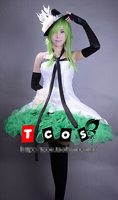Vocaloid 2 Megpoid GUMI Camellia Cosplay Kostüm Abend-Kleid dress (Megpoid Gumi Cosplay Kostüm)