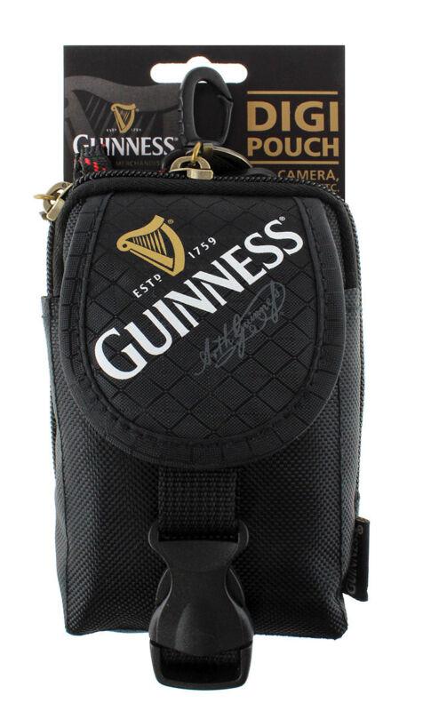 Guinness Black Digi Pouch Suitable for Cameras MP3 Phones etc