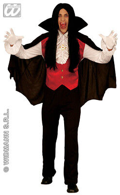 Mens Count Dracula Vampire Fancy Dress Costume Adults Halloween Outfit Velvet