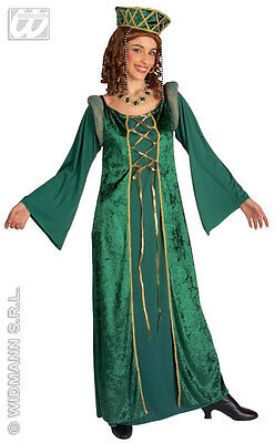 Ladies Medieval Emerald Tudor Queen Costume Fancy Dress Princess Fiona Outfit XL - Fiona Outfit