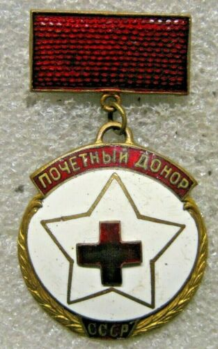 / Russia USSR Badge HONORED BLOOD DONOR,numbered