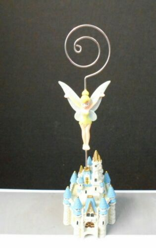 """DISNEY CASTLE WITH  """"TINKERBELL"""" DECOR DISPLAY FIGURINE 7 1/4"""" TALL  PRE-OWNED"""